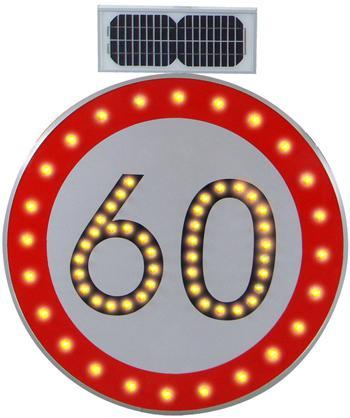 太陽能限速標誌牌 1