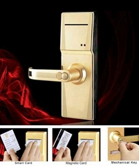 Magnetic card hotel lock 6600-73MI (Golden)