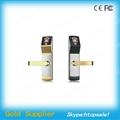 High identification speed Biometric Face Recognition sliding wooden door locks 2