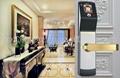 High identification speed Biometric Face Recognition sliding wooden door locks 3