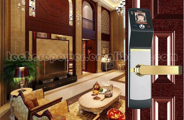 High identification speed Biometric Face Recognition sliding wooden door locks 5