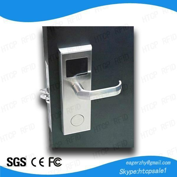 ISO9001 stainless steel smart rfid card key access proximity hotel door lock 1