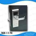 ISO9001 stainless steel smart rfid card key access proximity hotel door lock