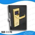 ISO9001 stainless steel smart rfid card key access proximity hotel door lock