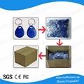 shape customized rfid plastic key tag 125khz / 13.56mhz / 860-960mhz