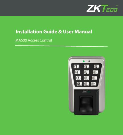 ZKTeco MA500 Metal Vandal-proof IP65 Waterproof Outdoor