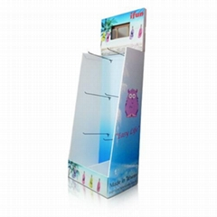 Point of Sale cardboard stand display with hooks