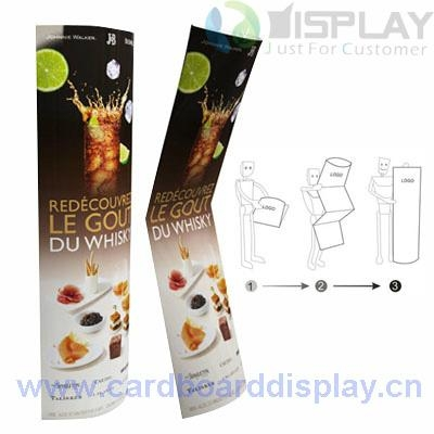 cardboard totem standing display for cosmetic prodcut 2