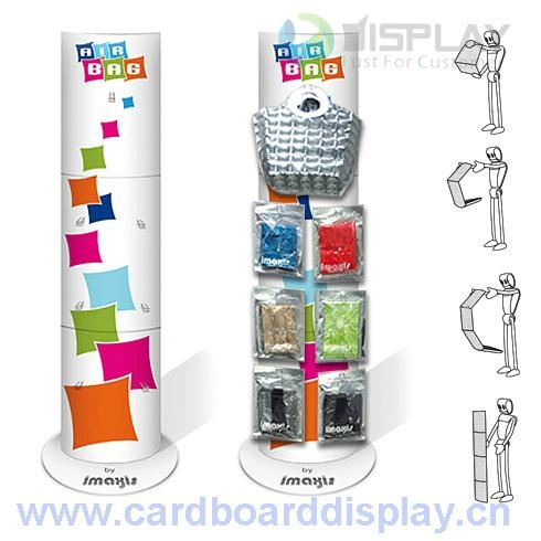 cardboard totem standing display for cosmetic prodcut 4