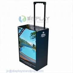 retractable handle cardboard trolley box with own logo