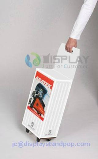 die cutting handle cardboard trolley piggy bag 1