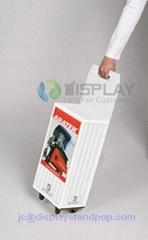 die cutting handle cardboard trolley piggy bag