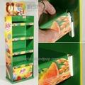 customized four layers food cardboard floor display units 3