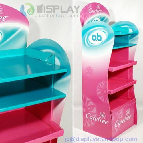 customized four layers food cardboard floor display units 4