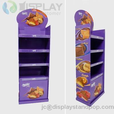 customized four layers food cardboard floor display units 5