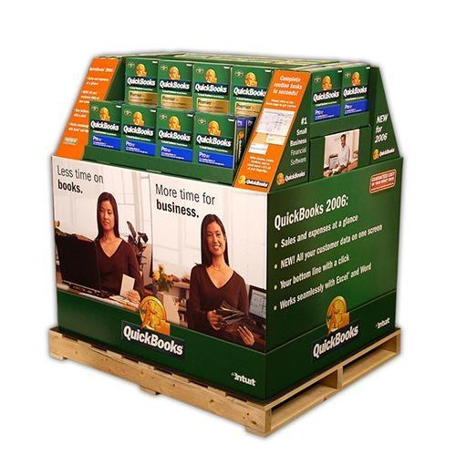 Supermarket Promotional Corrugated Cardboard Display or POP Up Display Stand/Pro 3