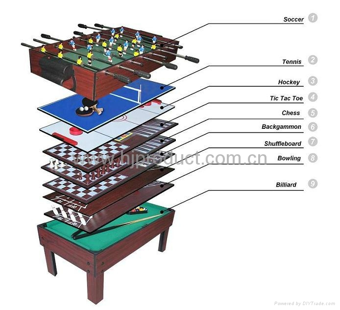 9 In 1 Multi Game Table Pool Table