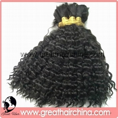 Virgin/ Natural Human Hair Extension/ Hair Bulk