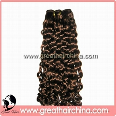 Double Drawn Curly Remy Human Hair Weft