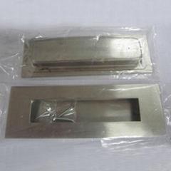 Contemporary style pocket flush door pull