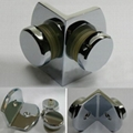 Brass chrome plated 90 degree glass to