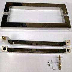 Modern square glass door handle - Dia.30x30x300mm