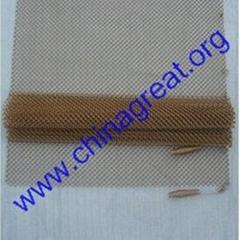 Metal coil drapery