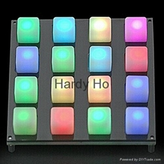 LED Music 4X4 Translucent Silicone Button Pad