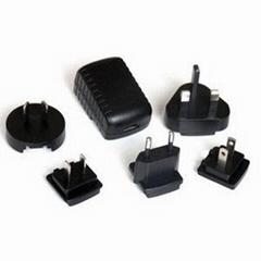 5W可换头电源适配器USB充电器