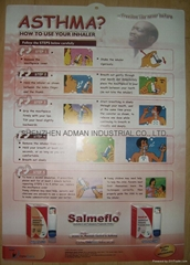 ASTHMA 3D EMBOSSED WALL MEDICAL/PHARMA CHART/POSTER