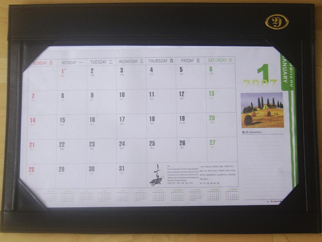 Colorful Desk Writing Mat Calendar Blotter Table Planner L8005