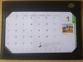 colorful desk writing mat calendar/blotter/table planner
