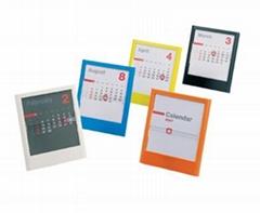 plastic desk calendar D-