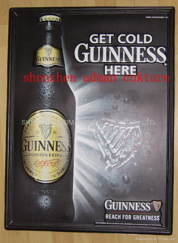 健力士啤酒 三维立体PVC教育挂图/广告画 1