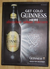 GUINESS BEER 3D EMBOSSED WALL PVC CHART/POSTER