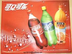 可口可乐三维立体PVC教育挂图/广告画