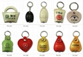 PX013-062 pvc leather key chain with light