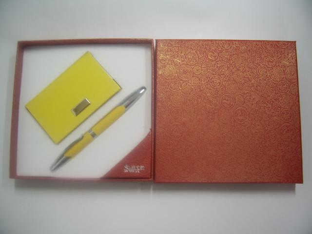 pen & keychain/pen & name card gift set 1