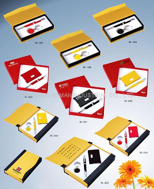 pen & keychain/pen & name card gift set 3