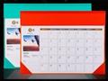 colorful desk writing mat calendar/blotter/table planner