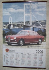 CLOTH  WALLSCROLL CALENDAR/POSTER
