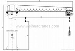 BZ Model Column cantilever crane