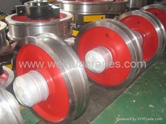 Rail wheels for Crane