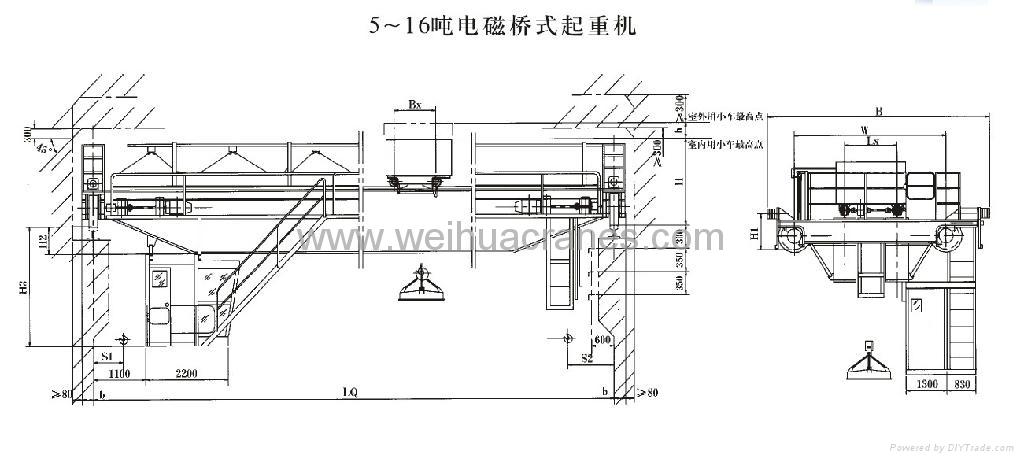 electromagnetic overhead crane 1