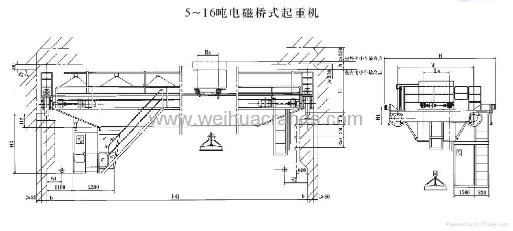 electromagnetic overhead crane china manufacturer overhead simple electromagnetic crane diagram how does an electric bell work using