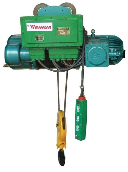 Explosion-protected wire rope hoists 1