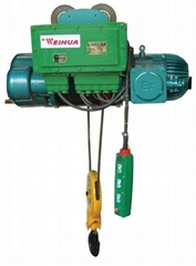 Explosion-protected wire rope hoists