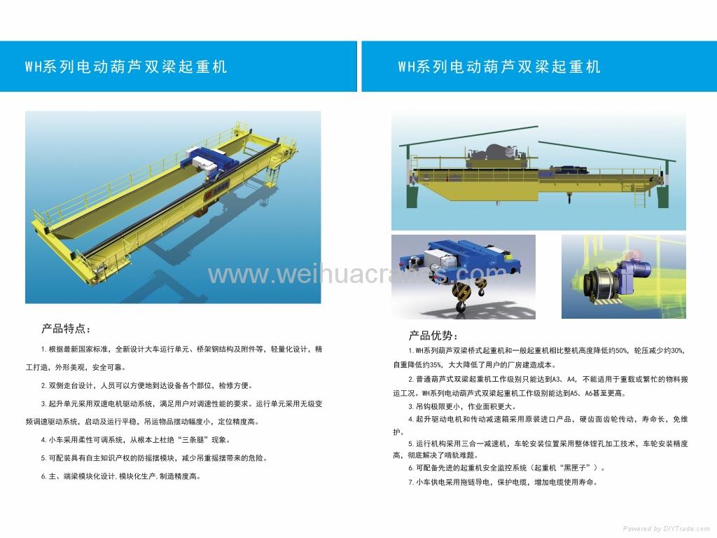 WH型电动葫芦双梁起重机 1