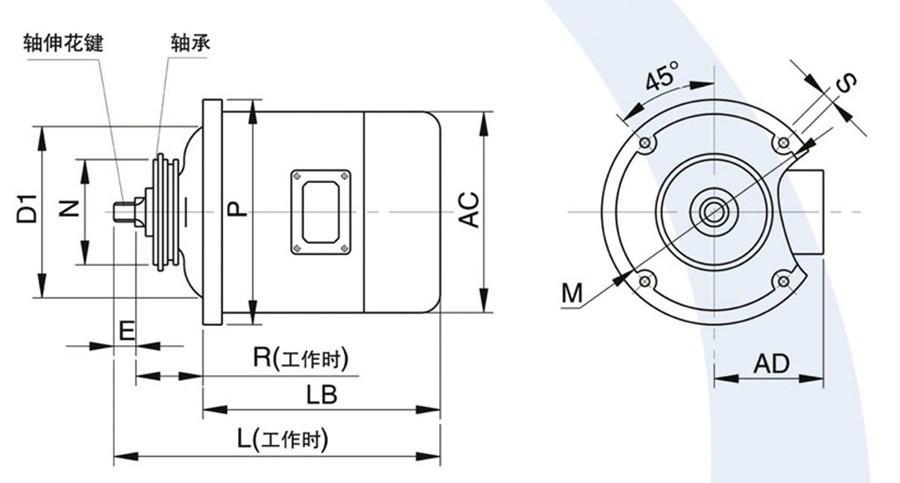 ZD41-4 7.5KW 锥形转子制动电动机主机 1