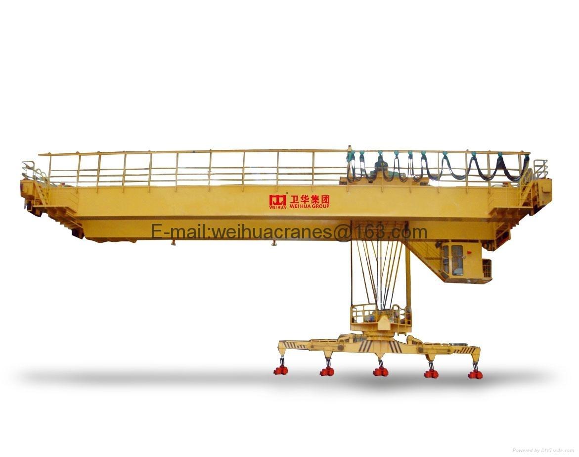 河南卫华重型机械股份有限公司-电磁伸缩旋转挂梁起重机